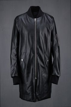 Vicemode Leather Long Flight Jacket