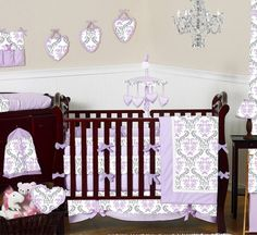 Love Love Love for a Baby Girl! w/ gray walls!