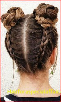 Braided Space Buns Channel your inner Ariana Grande, with these super cute buns!… Braided Space Buns Channel your inner Ariana Grande, with these super cute buns!…,Frisuren Braided Space Buns Channel your inner Ariana Grande,. Cool Hairstyles For Girls, Teen Hairstyles, Party Hairstyles, Hairstyle Ideas, Hair Ideas, Summer Hairstyles, Wedding Hairstyles, Two Buns Hairstyle, Everyday Hairstyles
