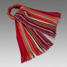 Paul Smith Scarves - Red Striped Lamora Wool Scarf Striped Scarves, Wool Scarf, Red Stripes, Paul Smith, Tie Dye Skirt, Nice Things, Blues, Essentials, Accessories