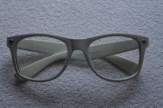 Białe okulary nerdy zerówki przeźroczyste szkła #tumblr #okulary - vinted.pl
