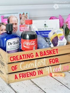 Creating a Basket of Comfort For a Friend in Need #CokeHappyHour #ad #CollectiveBias