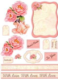 pink rose elements sheet