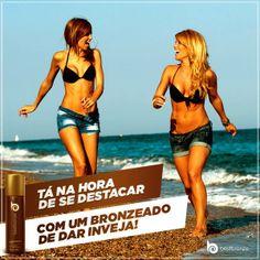 Todo mundo vai reparar em você e nas suas amigas bronzeadas. Convide-as e façam o teste juntas ;-)  www.bestbronze.com.br