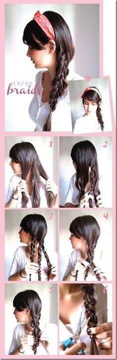 three braids- it was my fav hairstyle a few years ago,it's perfect for thin hair