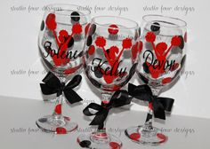 - - - - - - - - - - - - - - - - - - - Listing is for ONE Glass - - - - - - - - - - - - - - - - - The original - - - - CHEER COACH WINE GLASS - - - - Choose your team/school colors and font to make it custom for you! The cheerleader themed wine glass was designed and created here first at Studio Four Designs. Search throughout the Cheerleader/Team Coaches section of Studio Four Designs to see many color and font combinations that have been created. There are so many design/color options that…