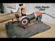 Make your own large angle grinder stand and metal chop saw - YouTube