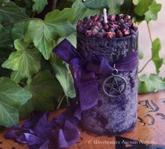 "Witchcrafts Artisan Alchemy - WITCHBERRY ""Old European Witchcraft"" Pillar Candle,  (http://www.witchcraftsartisanalchemy.com/witchberry-old-european-witchcraft-pillar-candle/)"