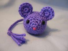 Cat Toy - Crochet Mouse -