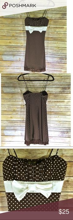 "LOVE TEASE Casual Dress (NWT) LOVE TEASE Casual Dress. A-line silhouette. Lace detail and polka dot prints. Measurements: 28"" chest, 27"" length. Materials: 97% polyester, 3% spandex. BRAND NEW with the tags still attached. Love Tease Dresses Midi"