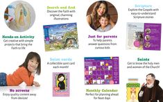 Subscribe to OSV Kids to get original search and find activities in each issue! Saint A, Curious Kids, Search And Find, Catholic Kids, Magazines For Kids, Hands On Activities, Kids Learning, Kindergarten, Preschool
