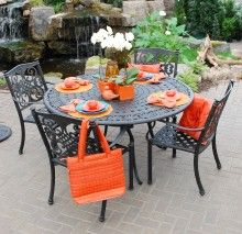 Cast aluminum patio furniture by beka lulu bistro set for Americanhome com