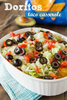 Doritos taco casserole turns taco night into a quick and easy casserole, with layers of your favorite chips. It's time to redefine the casserole, and make it something people want to eat! Click through for recipe!