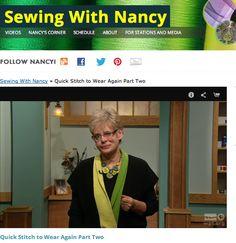 Quick Stitch to Wear Again by Nancy Zieman Book & DVD