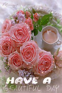 Good Morning Gift, Good Morning Coffee Gif, Good Morning Picture, Good Morning Greetings, Good Morning Flowers Gif, Good Morning Beautiful Pictures, Morning Pictures, Good Morning Images, Beautiful Roses
