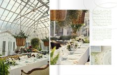 greenhouse party / reception. ideal + perfect. done.