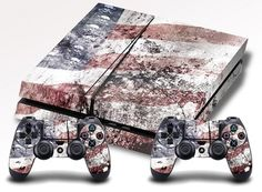 American Flag with Skulls PS4 Skin Playstation 4