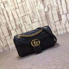 Gucci GG Marmont matelassé shoulder bag small 443497-6989