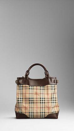 Medium Haymarket Check Tote Bag | Burberry