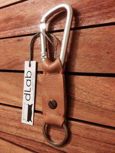 100% Handmade Leather Key Fob w/ Aluminum Alloy Carabiner Snap Hook on Etsy, $29.00: