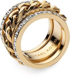 Michael Kors Stack Ring - I don't wear much gold but I would wear this!