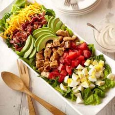 Everyone loves Cobb salad. We added traditional ingredients in our recipe, but you can be creative and substitute your favorite salad ingredients or what you have on hand.