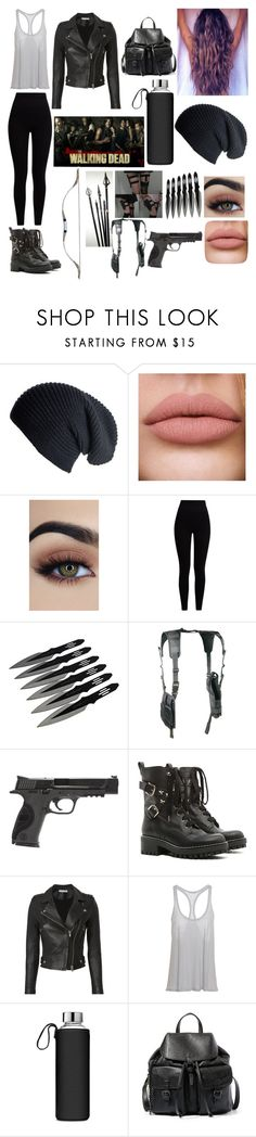 """""""The Walking Dead Outfit!!! <3"""" by hayley11123 ❤ liked on Polyvore featuring Pepper & Mayne, Smith & Wesson, RED Valentino, IRO and Steve Madden"""