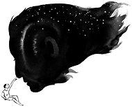 by Jillian Tamaki for NY Times. Oh Jillian Tamaki - can you do anything wrong? Love the positive/negative space, the stars in the hair, and that little bleedy wash of white in the face. And the way the ink softens towards the edges absolutely MAKES this illustration. It would not be what it is if it were straight up vector art. So great.