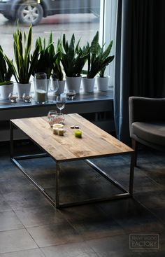 Discount! Coffee Table, Industrial Table, Wooden Table on Metal Frame Legs,  Rustic And Industrial Reclaimed Barn Wood Furniture