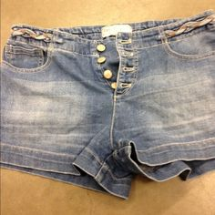 Free People Jean Shorts So cute with button fly and braided waist. Free People Shorts Jean Shorts