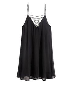 Nyörillinen mekko | Musta | Ladies | H&M FI