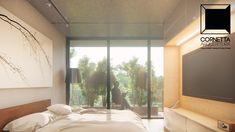 cornetta arquitetura, architecture, prefab, pre moldados, concreto aparente, casas modernas, suite, sacada