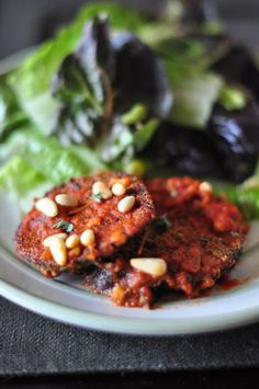 Everything Reconsidered.: baked eggplant -- gluten free + dairy free