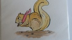 #Squirrel #Squirrel Watercolour #Squirrel watercolor #Postcard #Squirrel Postcard