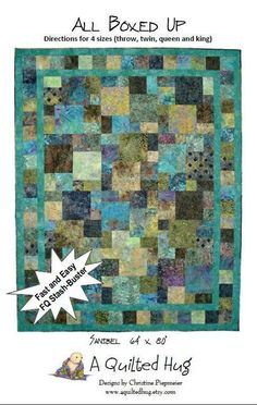 love this. need to make it.  it's an easy quilt and I love it with the batik fabric.