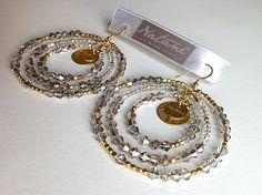 Ocean earrings collection - grey color #grey #earrings #jewels #natanè # Crochet Earrings, Gray Color, Ocean, Jewels, Drop Earrings, Personalized Items, Grey, Collection, Gray