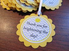 Sunshine Favor Tags. Thank you for Brightening the by weloveaparty, $5.00