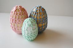 Crochet Eggs at ThinkCrafts.com free pattern