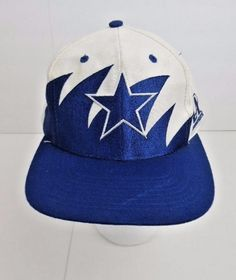 613cf82db84 Ball Cap  NFL Dallas Cowboys Star ~ Adjustable ~ White   Blue  LogoAthletic   BaseballCap