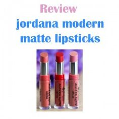 http://www.pintalabios.info/en/reviews/view/en/16 New #review on pintalabios.info jordana modern matte #lipsticks review jordana modern matte lipsticks review  Matte Tease is a nude pink. It looks a bit cool toned in the tube, but looks like a warm pink on me. Matte Pretty is a warm peachy coral shade with shimmer. I don't mind the shimmer, since it ends up looking like a nice glow on the lips. Matte Style is my favorite of the three I picked up. It is a super sexy cool toned red that makes…