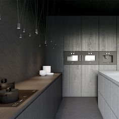House Toulouse France  Kuoo Architects  #kitchen #kitchendesign #darkkitchen #interior #interiors #interiordesign #flooring #tiling #tiles #lighting #lights #cabinetry #joinery #kuoo #kuooarchitects #instakitchen #instadesign by lucdesign