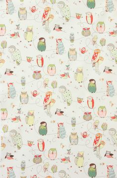 Spotted Owl - Alexander Henry - Fabric BTY - 1.5 yards. $13.75, via Etsy.