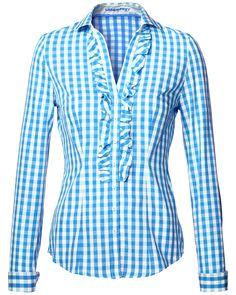 LODENFREY Modische Damen-Bluse von LODENFREY in Pink-Weiß ...