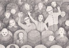 Jenny spots her family in the sea of faces. Drawings, Illustration, Faces, Painting, Sea, Sketches, Illustrations, Painting Art, Draw