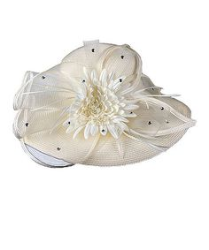 Loving this Ivory Flower Church Hat on #zulily! #zulilyfinds