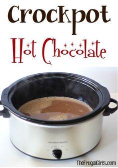 Crockpot Hot Chocolate Recipe from TheFrugalGirls.com