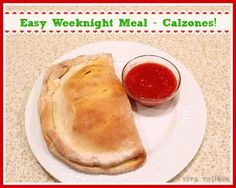 Looking for an Easy Weeknight Meal?  Try this Calzone #Recipe!