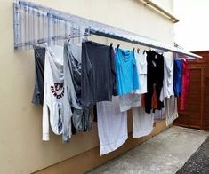 60 drying room design ideas that you can try in your home 43 ~ Litledress Drying Rack Laundry, Clothes Drying Racks, Laundry Room Organization, Laundry Room Design, Organizing, Outdoor Clothes Lines, Outdoor Laundry Rooms, Home Crafts, Diy Home Decor