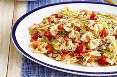 Salade de pâtes aux légumes frais