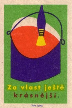 czechoslovakian #matchbox label. 1960   To Order your business' own branded #matchbooks or #matchboxes GoTo: www.GetMatches.com or CALL 800.605.7331 to get the process started today!
